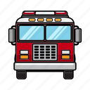 fire engine, fire truck, firefighter, firefighting icon