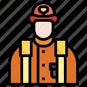 firefighter, job, avatar, profession, occupation