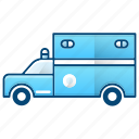 ambulance, emergency, fire department, healthcare, truck icon