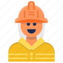 avatar, emergency, firefighter, fireman, help icon