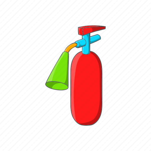 cartoon, equipment, extinguisher, fire, protection, safety, sign icon