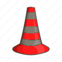 alert, cartoon, cones, construction, safety, sign, traffic icon