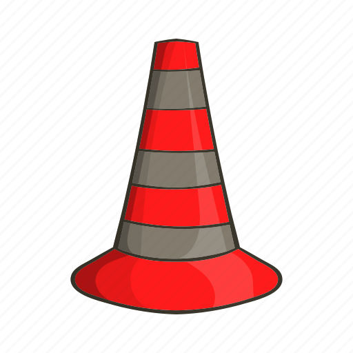alert, cartoon, cones, construction, safety, sign, traffic icon