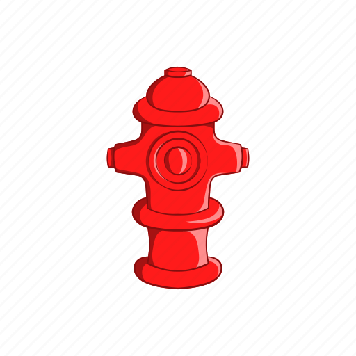 cartoon, emergency, faucet, fire, hydrant, sign, water icon