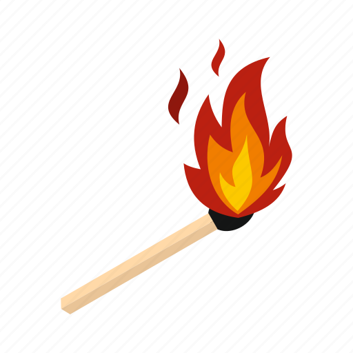 fire, flame, hot, match, matchstick, orange, wood icon