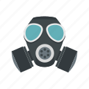 army, chemical, gas, mask, military, protection, war icon
