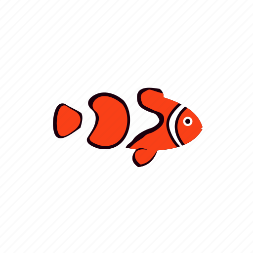 animal, clown, fish, marine, nature, sea, tropical icon
