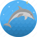 dolphin, fish, food, sea, seafood icon