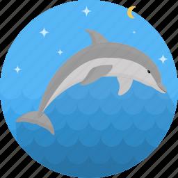 dolphin, fish, food, sea, seafood icon