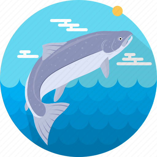 fish, fishing, food, meal, salmon, sea, seafood icon