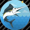 fish, food, sea, seafood, swordfish, fishing, sailfish