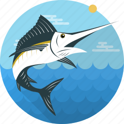 fish, fishing, food, sailfish, sea, seafood, swordfish icon