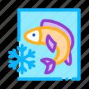 catch, conveyor, fish, froze, frozen, process, processing