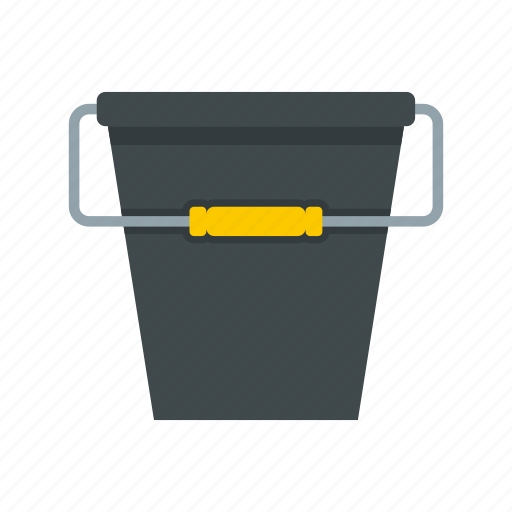 bucket, can, clean, container, equipment, fishing, handle icon