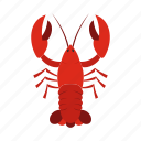 organic, animal, fishing, delicious, claw, eating, crayfish