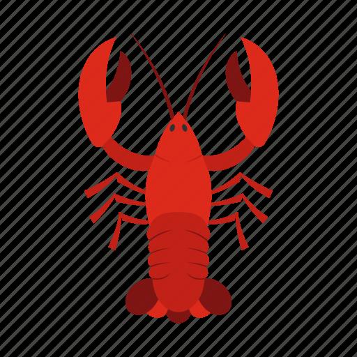 animal, claw, crayfish, delicious, eating, fishing, organic icon