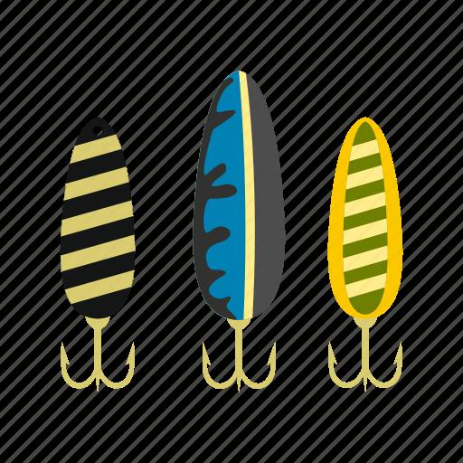 catch, fish, hook, lure, metal, treble, wobbler icon