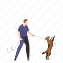 dog, walk, leash, animal, pet, fitness, exercise icon