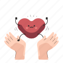 heart, monitor, physical, health, healthcare, care, hand icon