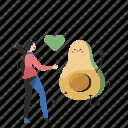 love, avocado, woman, people, person, healthy, health