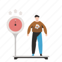scale, weight, weigh, fat, man, person, people icon