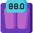 exercise, fitness, measure, measurement, scale, weighing, weight icon