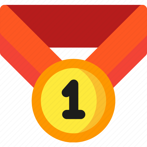 achievement, award, first, medal, prize, winner icon