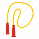 activity, fitness, healthy, jump, rope, skipping rope, training icon