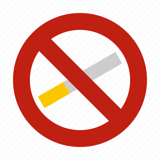 abstain, addiction, cigar, danger, no, no smoking, smoke icon