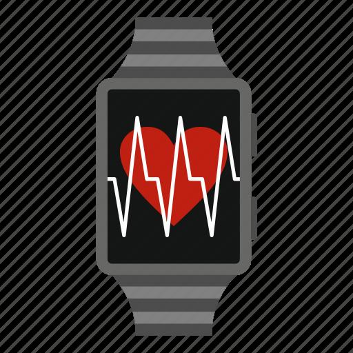 app, digital, hand, monitoring, pedometer, smartwatch, wrist icon