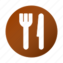 eat, food, fork, knife, location, navigation icon