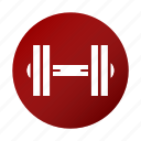 barbell, dumbbells, fitness, gym, muscles icon