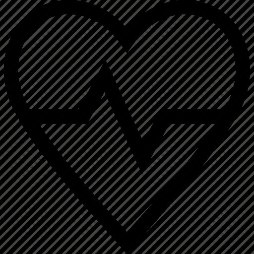cardio, healthy, heart, heartbeat icon