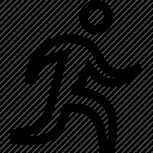 athlete, jogging, runner, running icon