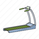 equipment, fitness, gym, running, simulator, sports, track icon