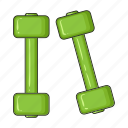 attributes, dumbbells, equipment, fitness, gym, sports, tools icon