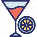 drink, fruit juice, glass, orange juice, orange slice icon