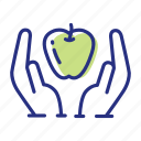 apple, healthy diet, healthy food icon