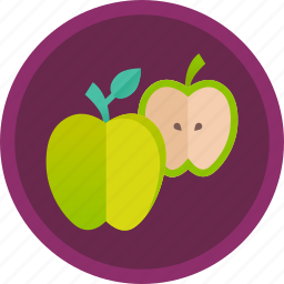 apple, diet, dietary, fitness, food, fruit, healthy icon