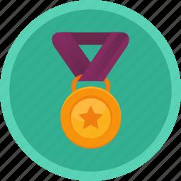 achievement, challenge, medal, sport, winner icon