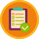 fitness, paper, plan, report, schedule, training icon
