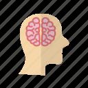 brain, care, face, fitness, head, health icon