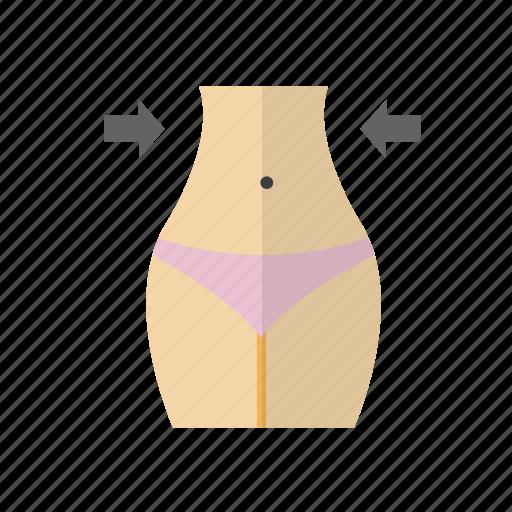 care, fitness, health, shape, waist icon