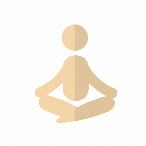 care, fitness, health, person, yoga icon