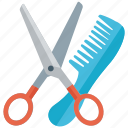 barbering, beauty spa, hair cutting, hair salon, haircut tool, hairdressing icon