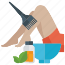 beauty spa, beauty treatment, depilation, depilatory wax, hair removal, waxing icon