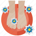 beauty spa, feet relaxation, foot care, foot massage, pedicure icon