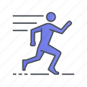 exercise, fitness, running, sport, training icon