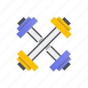 dumbbell, exercise, fitness, gym, weights icon
