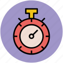 chronometer, stopwatch, stopwatch running, time keeper, timepiece, timer icon
